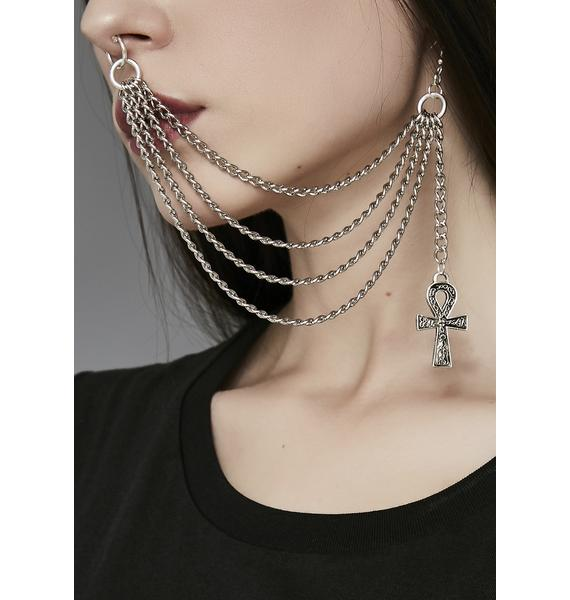 All Hail Goddess Nose To Ear Chain