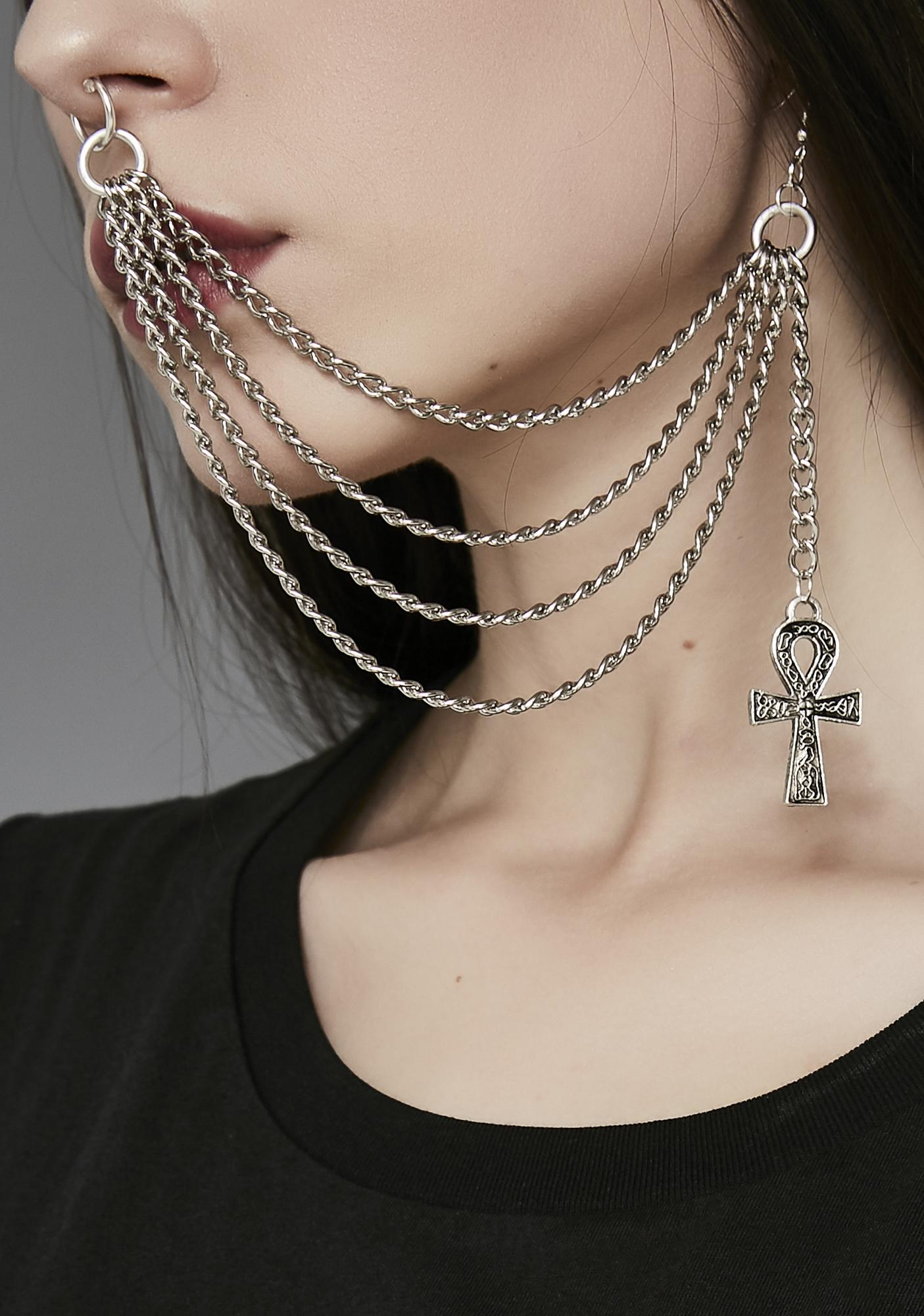 All Hail Goddess Nose To Ear Chain