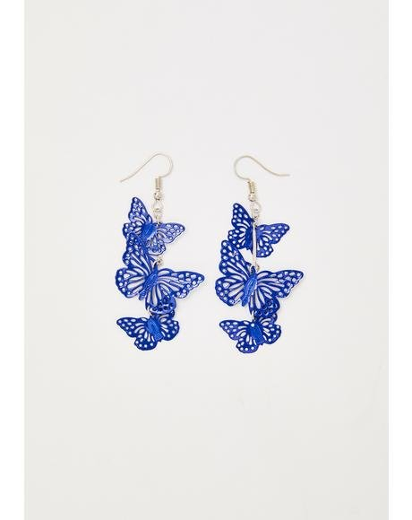 Social Butterfly Besties Drop Earrings