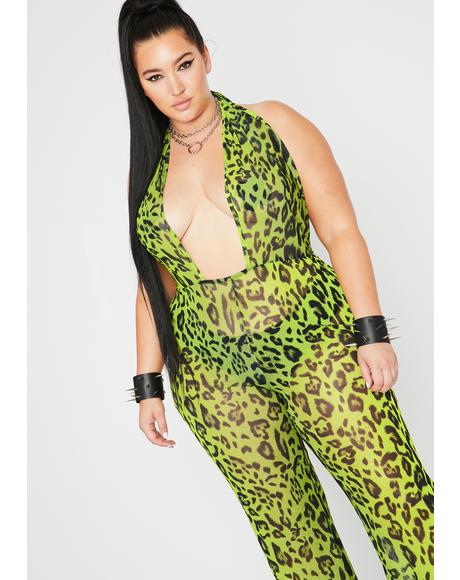 Bodak Glam Boss Jungle Sheer Jumpsuit