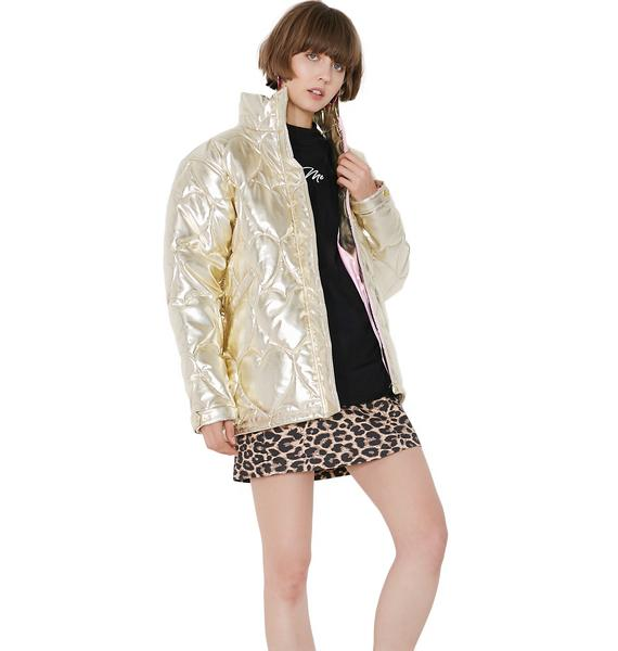 Lazy Oaf Golden Child Puffer Jacket