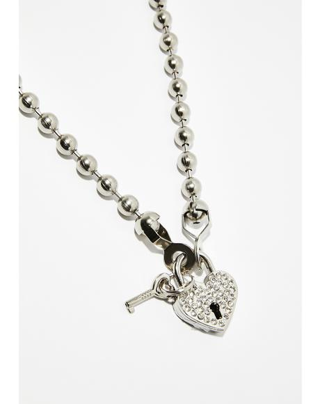 Bulletproof Heart Locket Necklace