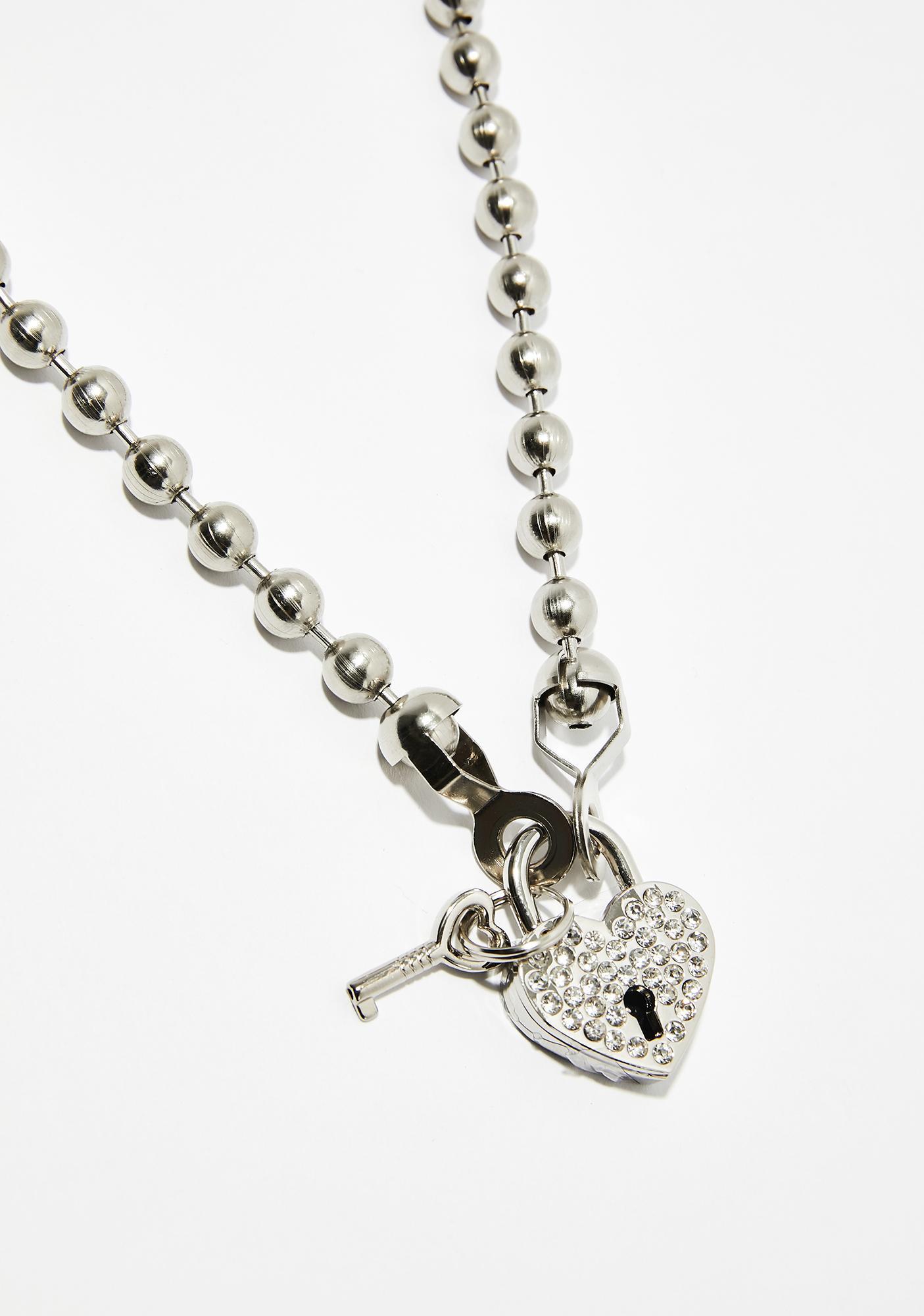 Bulletproof Heart Locket Necklace