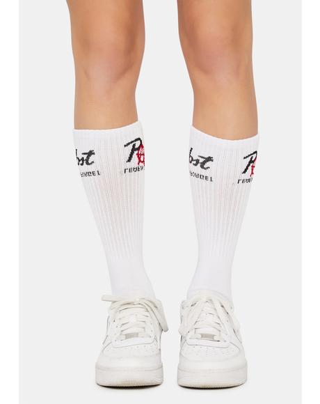 X PBR Anarchy Logo Crew Socks