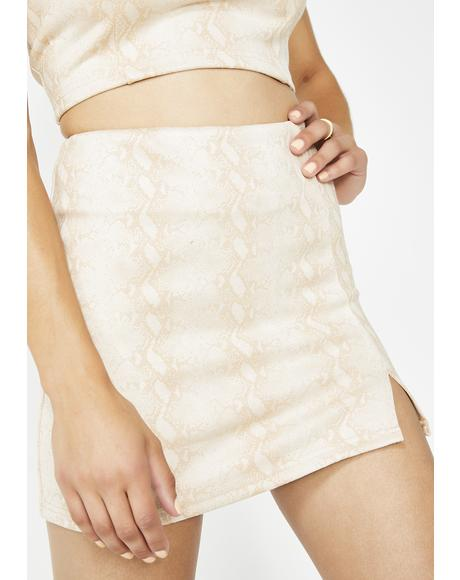 Cold Blooded Snakeskin Skirt