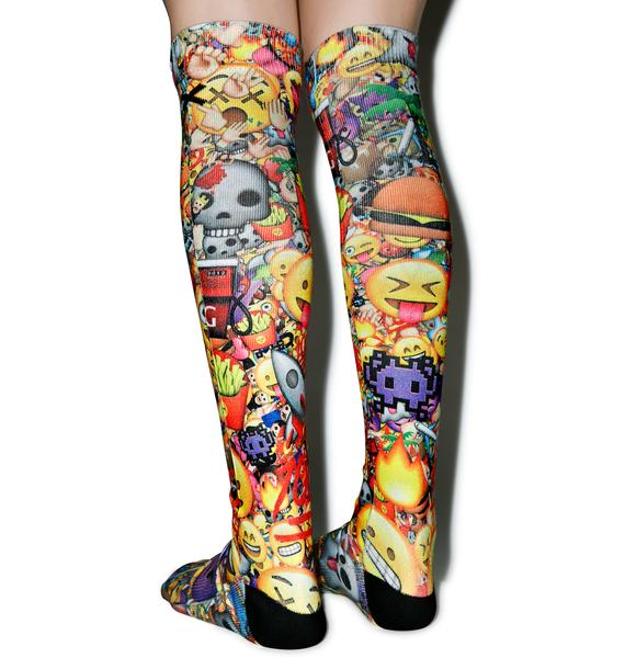 Odd Sox Emoji 3D Knee High Socks