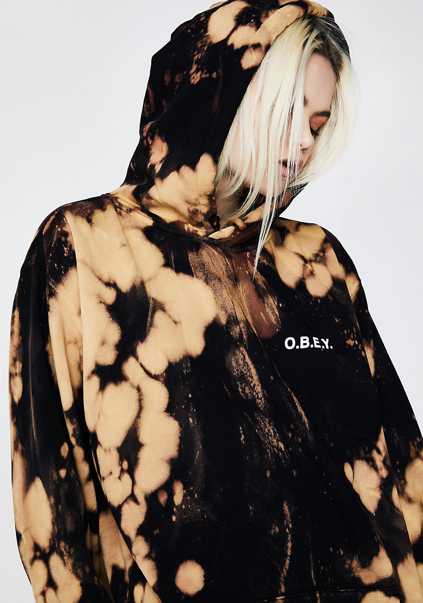 Obey O.B.E.Y. Basic Tie Dye Pullover