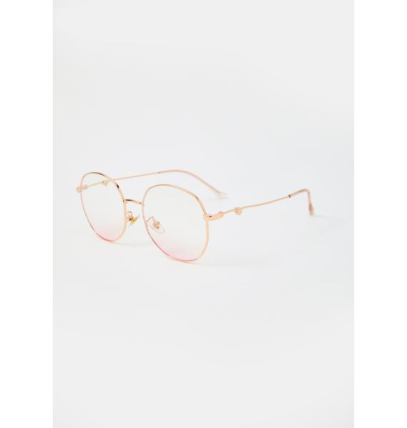 Turning Trends Wire Frame Sunglasses