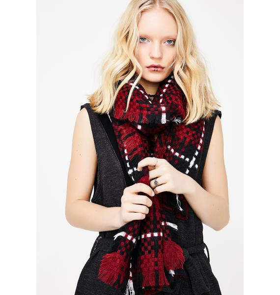 Detention Hall Plaid Scarf