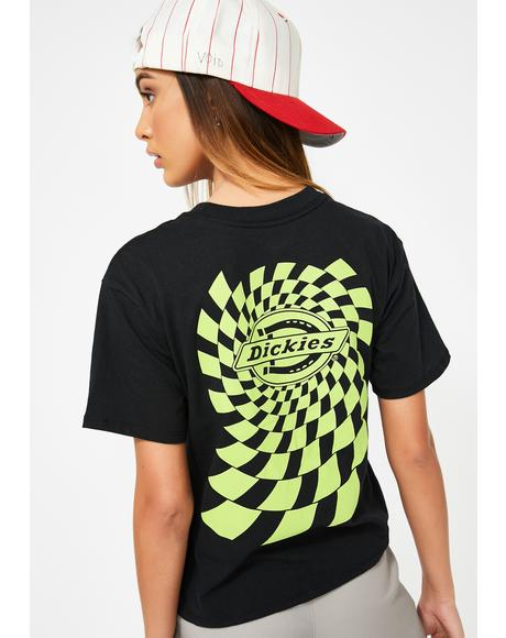 Spiral Check Short Sleeve Tee