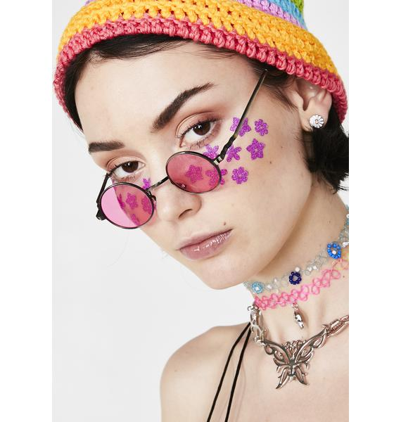 Candy Crush On You Round Sunglasses