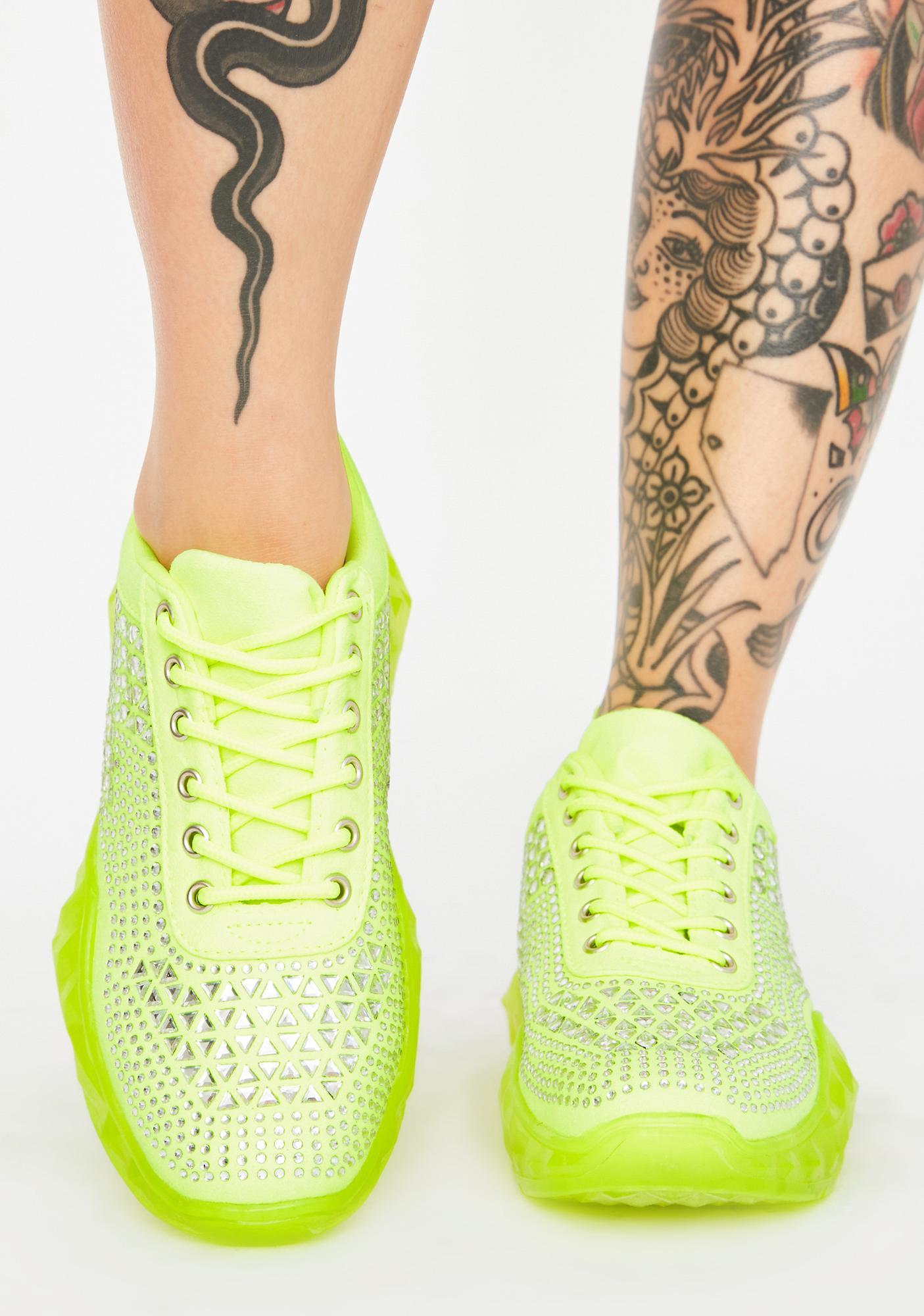 Vivid Break The Ice Diamante Sneakers