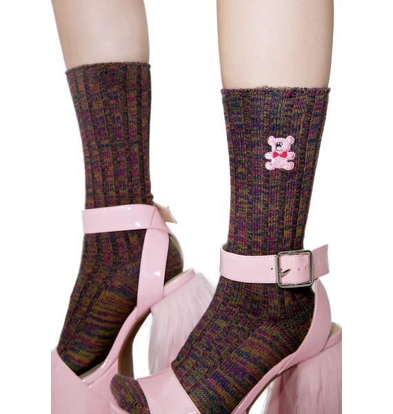 Lazy Oaf Teddy Bear Socks