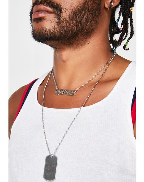Loud N' Proud Queer Necklace