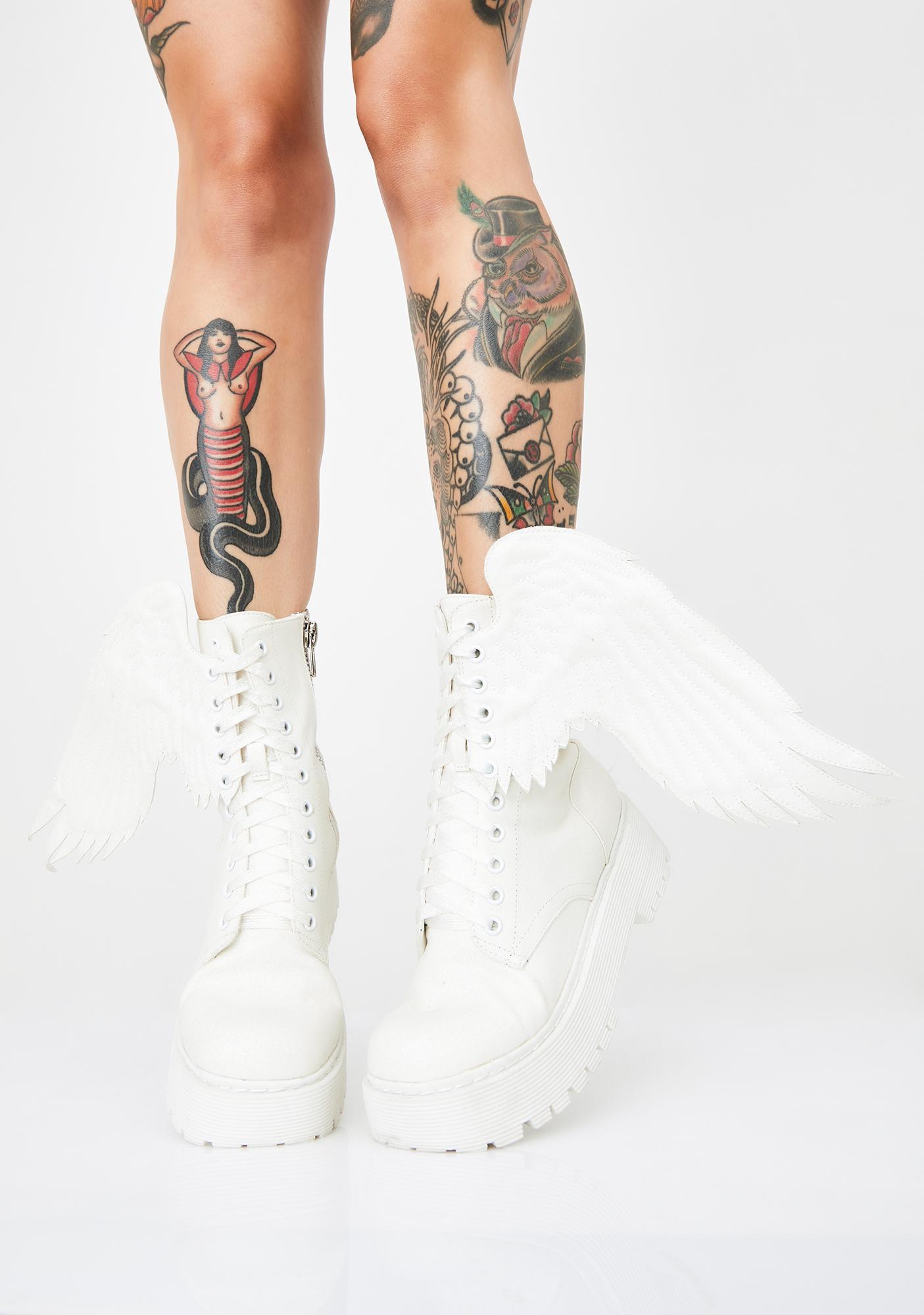 Dolls Kill Such A Cherub Combat Boots