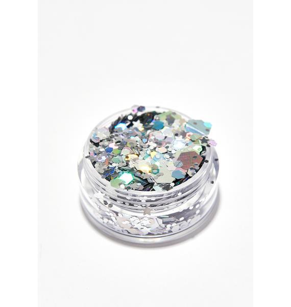 Karizma Beauty Silver Holographic Chunky Glitter