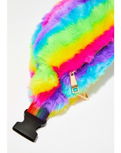 FurBae Rainbow Fanny Pack