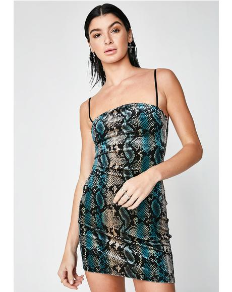 Snakeskin Devon Dress