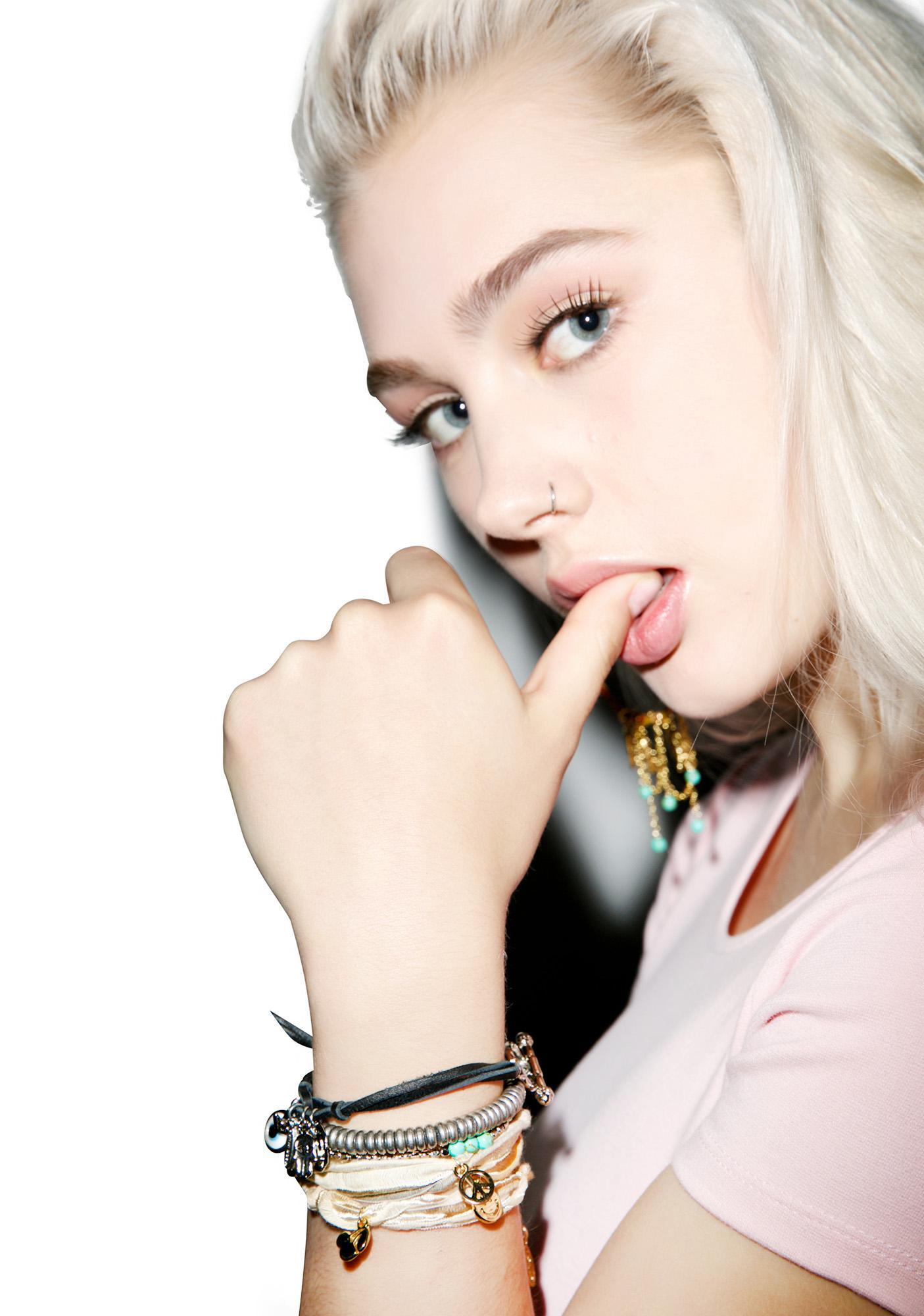 Ettika Vintage Ribbon Wrap Charm Bracelet