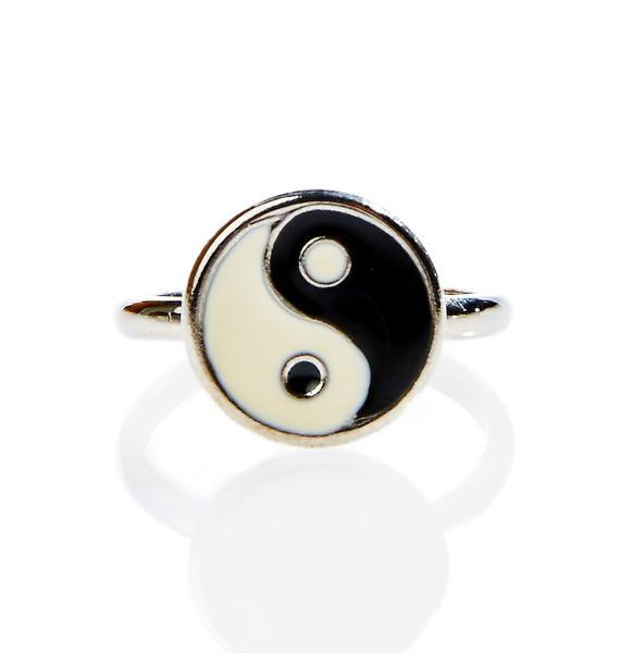 Moon River Collective Yin Yang Midi Ring