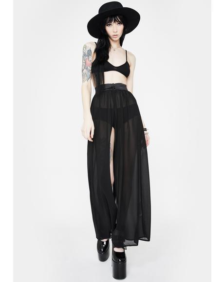 Vamp Chiffon Maxi Skirt