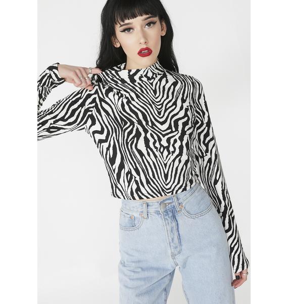 Roamin' Free Zebra Top