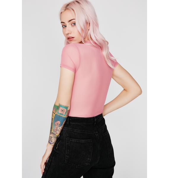 Sweet Hard Candy Mesh Bodysuit