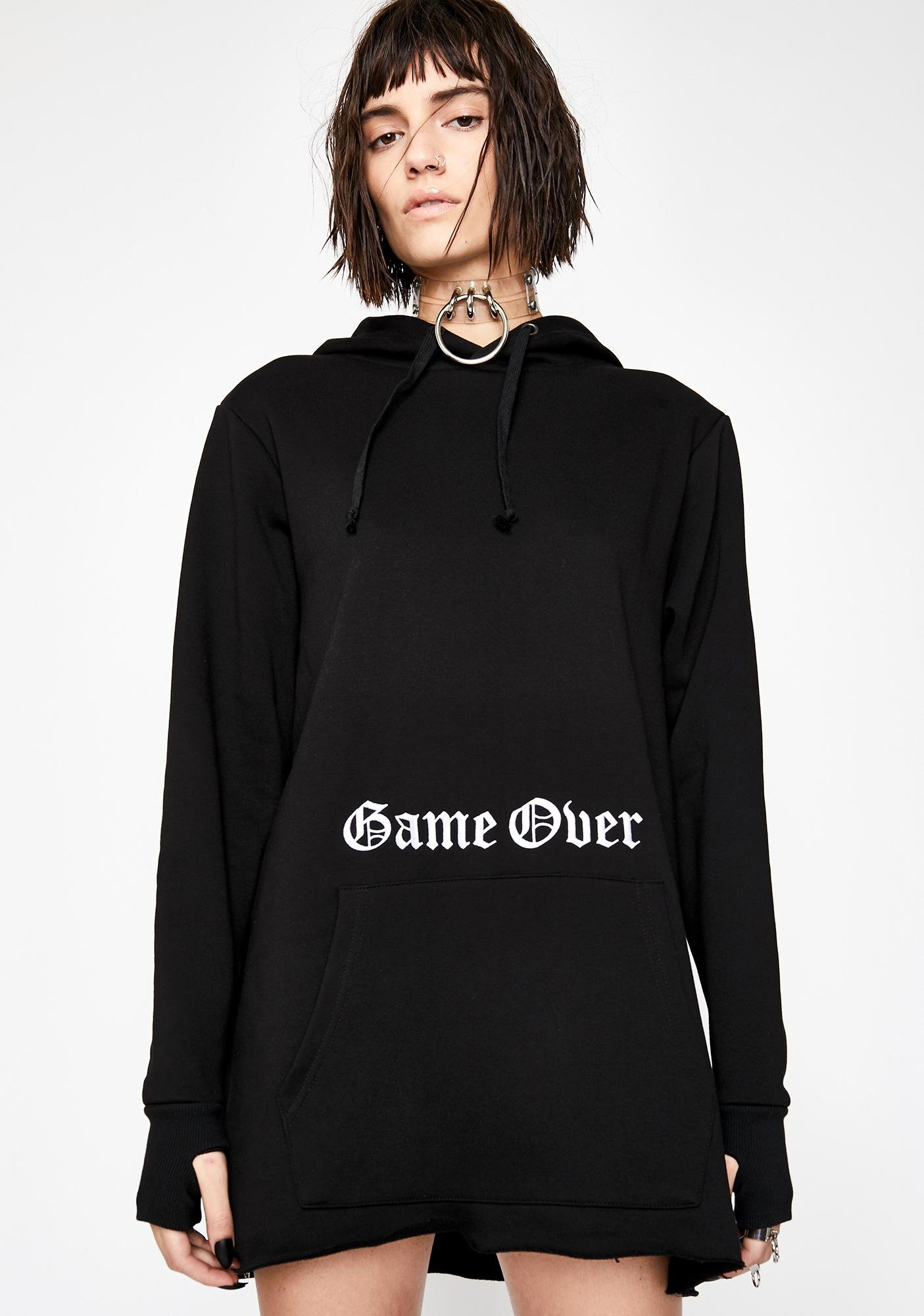 Current Mood Game Over Hoodie