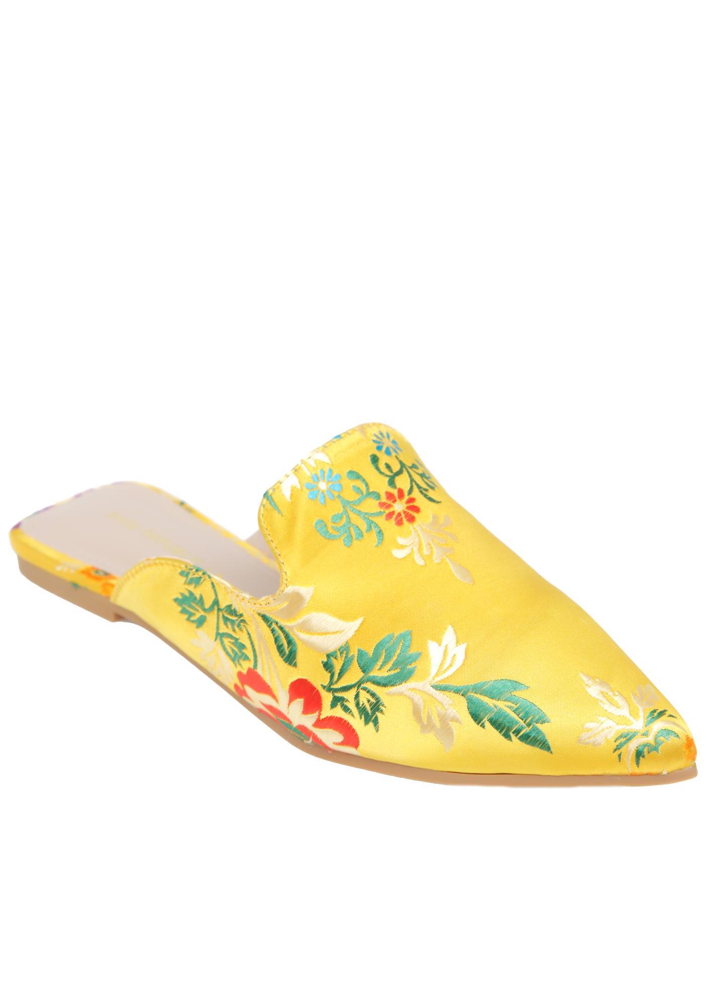 Libertine Brocade Slides
