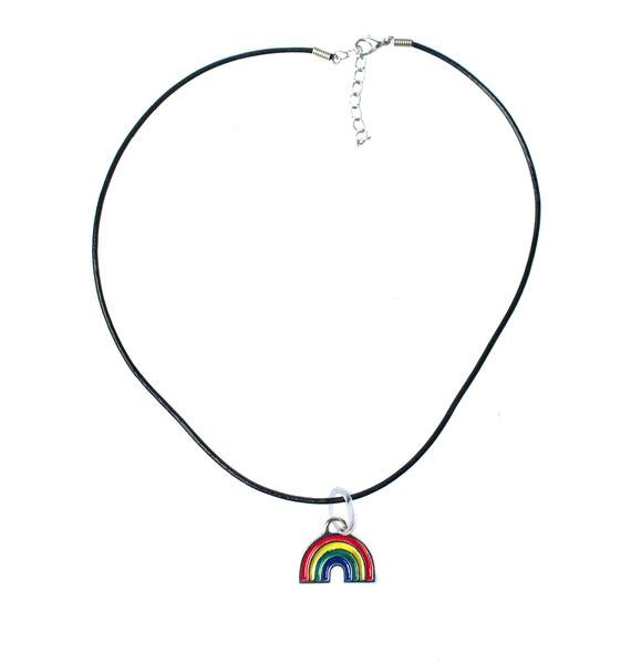 Rad and Refined 90s Rainbow Choker