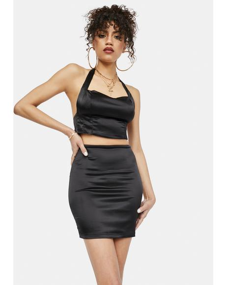 That Good Night Satin Skirt Set