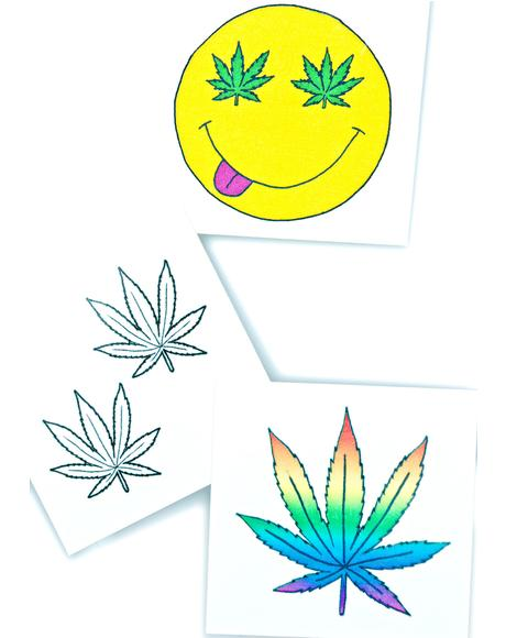 Good Vibes Temporary Tattoo Pack