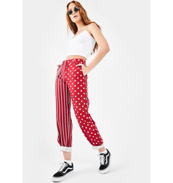 O Mighty Two Face Pant In Red
