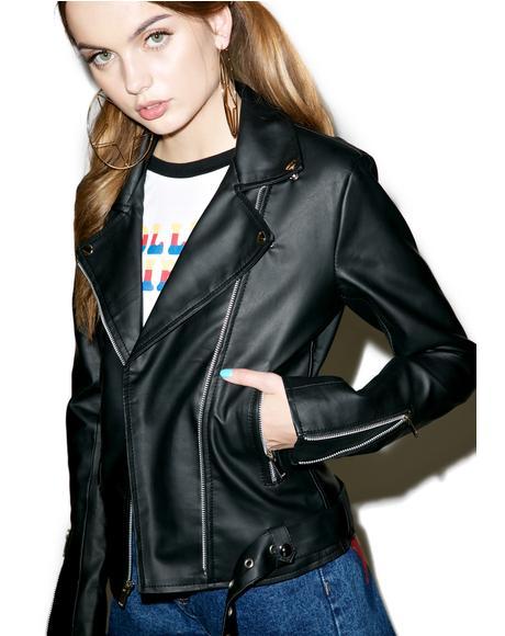 Heartbreaker Faux Leather Jacket