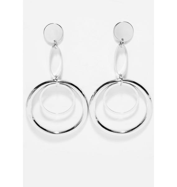 On Target Drop Earrings