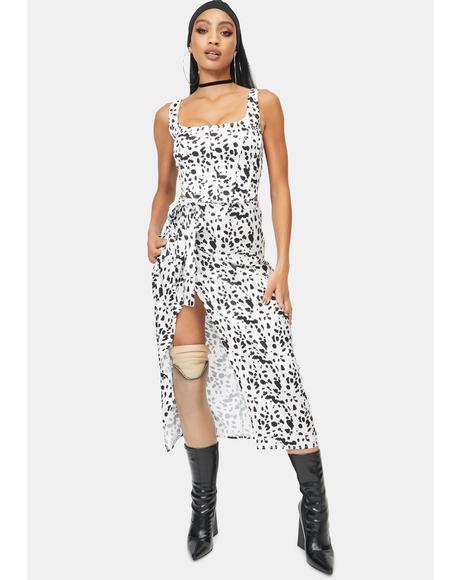 Dalmatian Wrap Midaxi Skirt