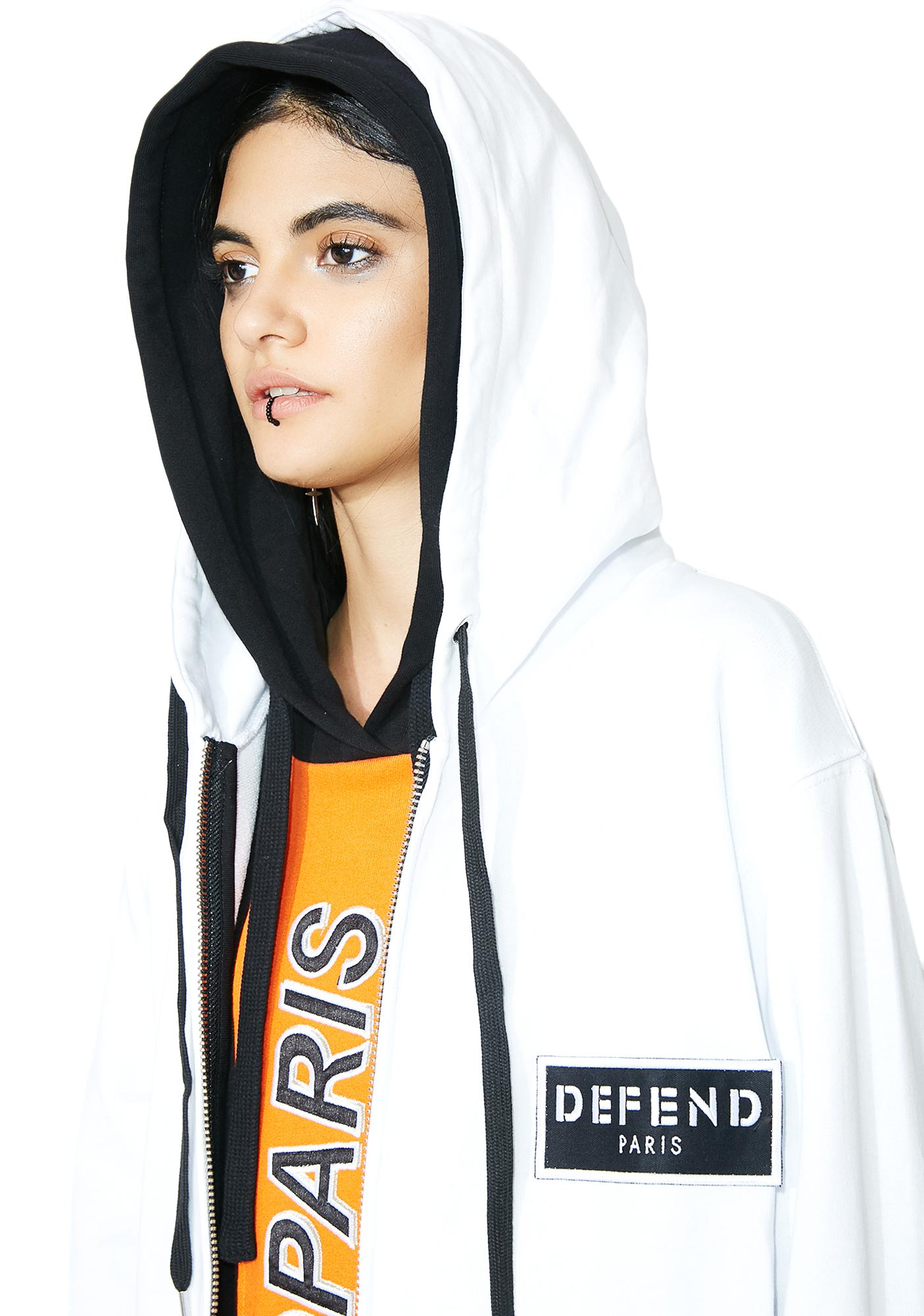 Defend Paris Front Patch Hoodie