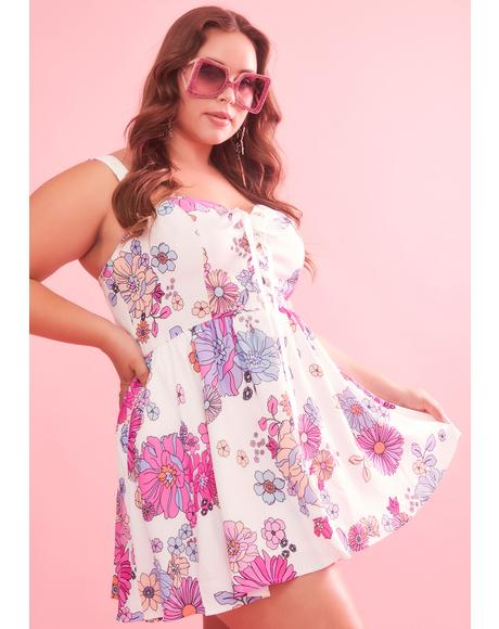 Divine Blissful Lane Floral Dress