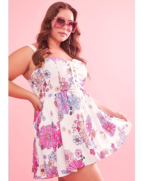 Divine Blissful Lane Floral Dress