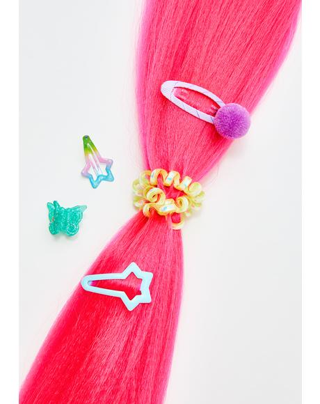 Neon Pink Add In Hair Extensions