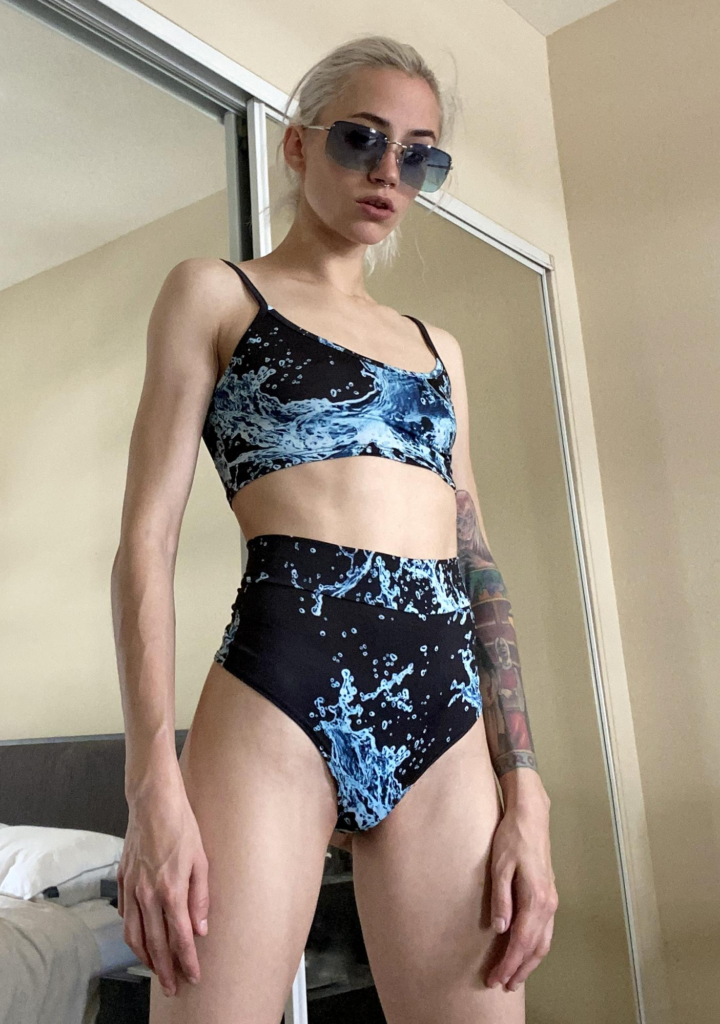 Deep Troubled Waters Booty Shorts Set