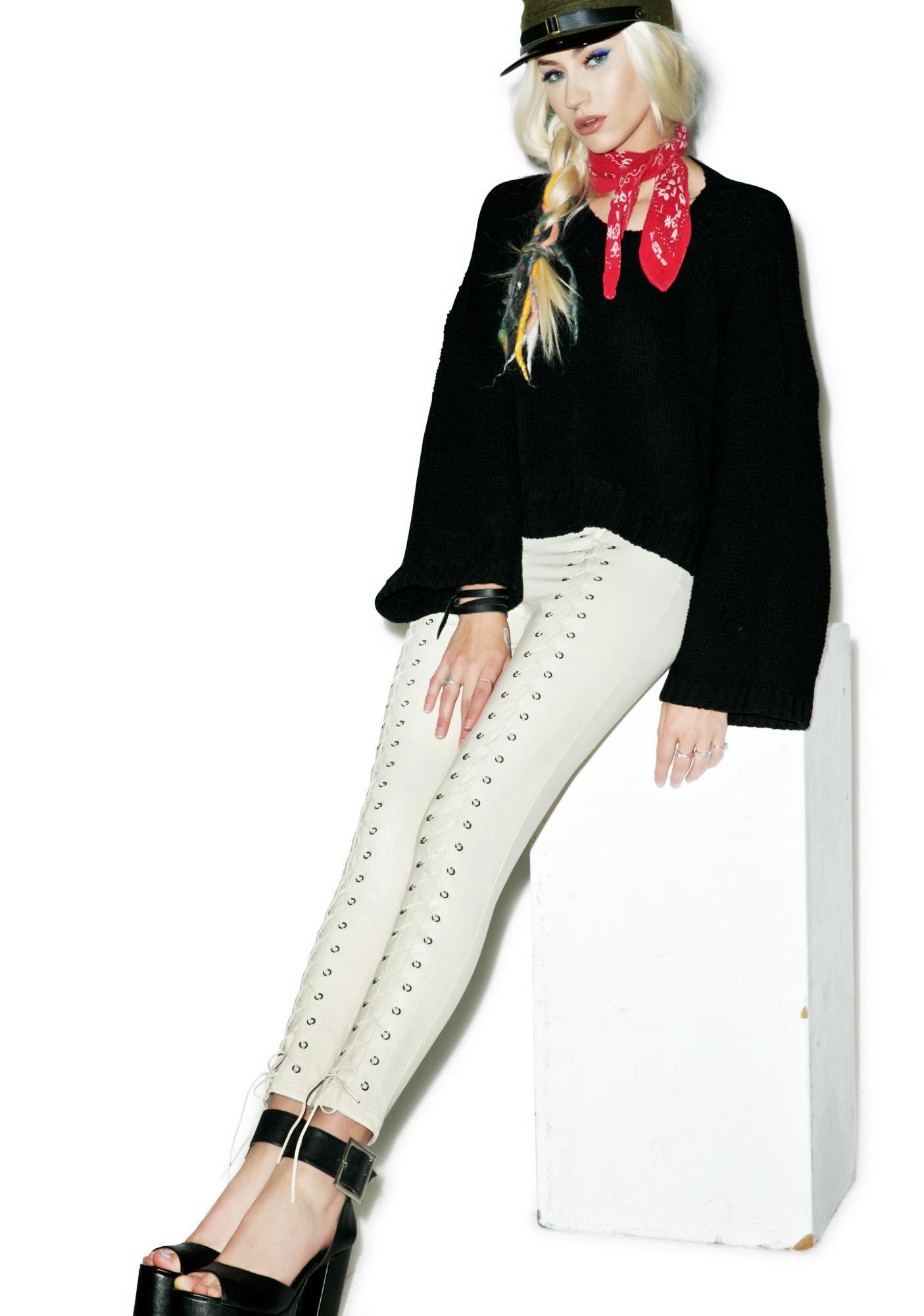 Line & Dot Delilah Lace Up Leggings
