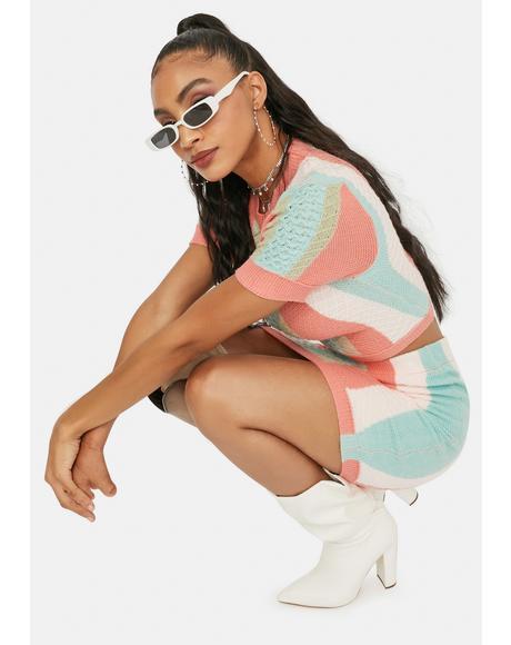 Classy Seeker Vertical Stripe Sweater