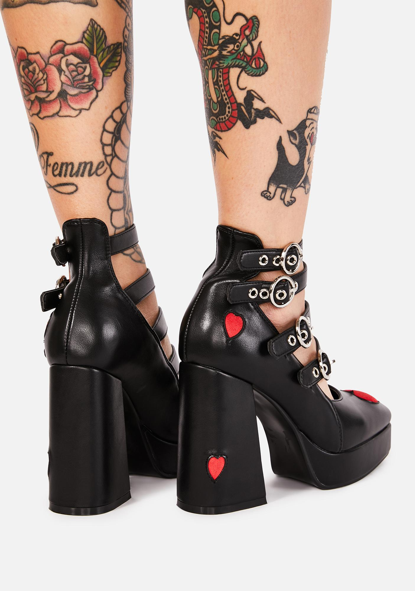 Lamoda This Heart Of Mine Buckle Heels