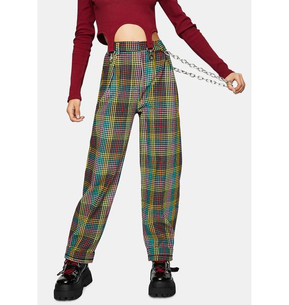 The Ragged Priest Doofus Multi Check Pants