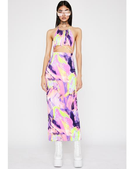 Abstract Thot Maxi Dress