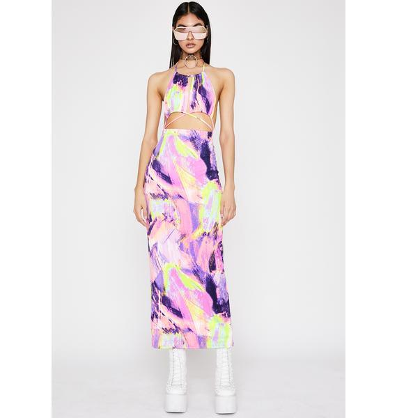 Abstract Thot Maxi Dress