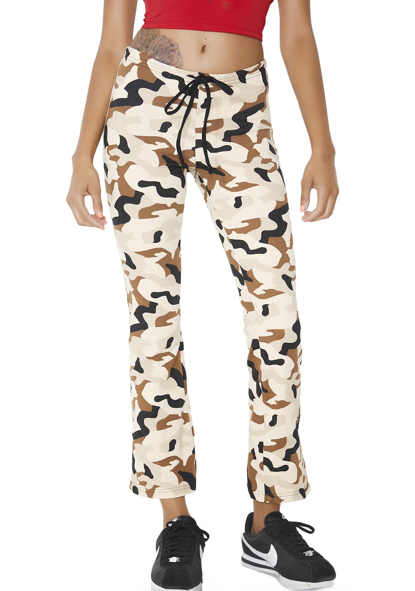 American Deadstock Duty Calls Camo Flare Pants