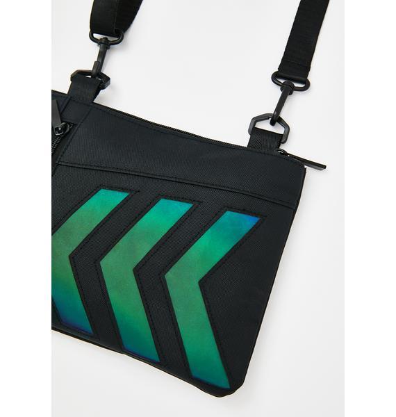 Let'z Rewind Reflective Crossbody Bag