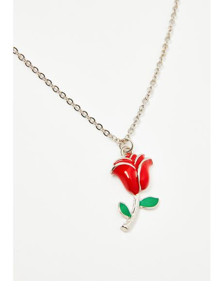 Love Empress Rose Necklace
